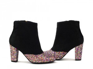 bottine_en_poil_noir_et_glitter_multicolor_kissmyshoe