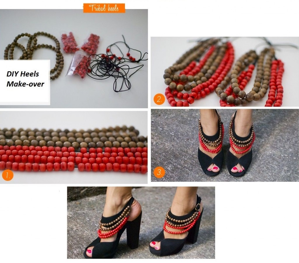 diy chaussures talons
