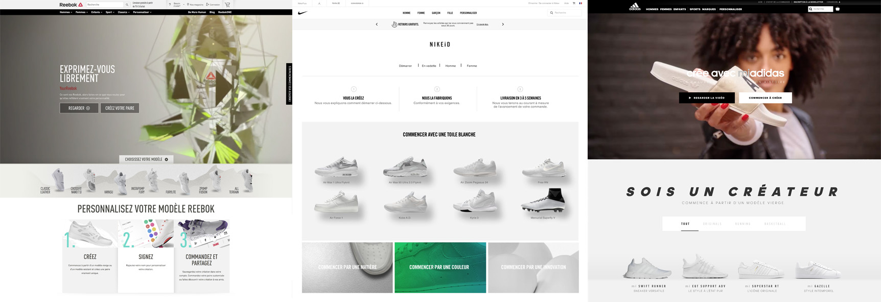 sites internet personnaliser sneakers